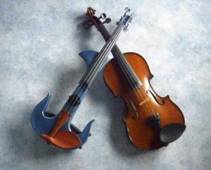 обикновена и електрическа цигулка